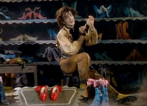 the shoemaker with his shoes