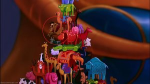more of an easter egg, but this attention to detail in the movie Aladdin is a great example of 'bump the lamp'