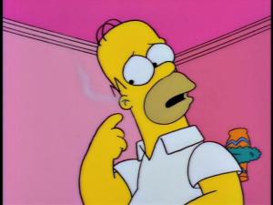 Homer: Marge, my ears are burning! Marge: Homer, we weren't talking about you. Homer: No, my ears are really burning. I wanted to see what was inside so I lit a Q-Tip