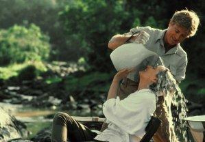 Robert Redford can make hair washing look hot